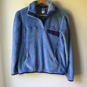 Patagonia Re-Tool Snap-T Fleece Pullover in Blue